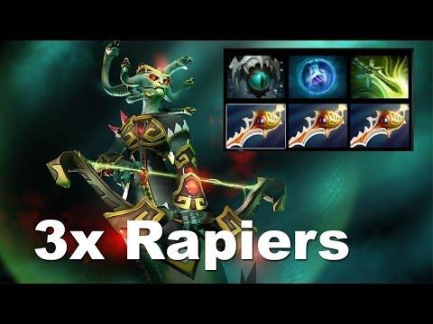 Most Useless 3 Rapier Medusa In Dota 2.