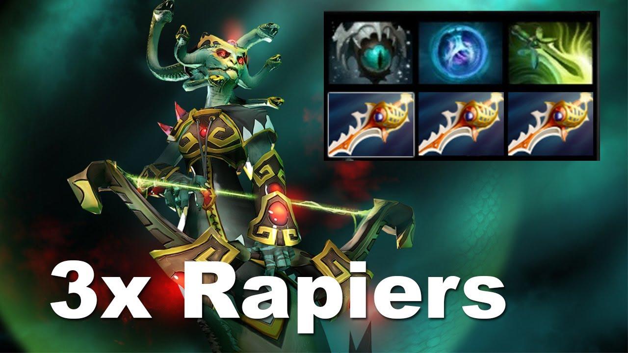 most useless 3 rapier medusa in dota 2 youtube