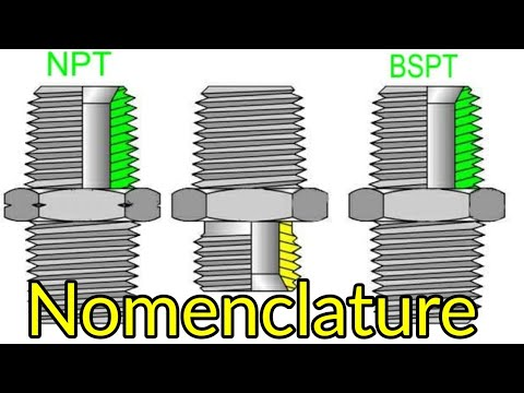 NPT And BSPT Thread Nomenclature. NPT THREAD. BSPT THREAD. NPT AND BSPT THREAD.Types Of Thread Hindi