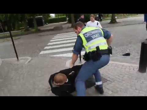 Nordiska motståndsrörelsen anfaller antirasister och polis, Lund 2019-06-01