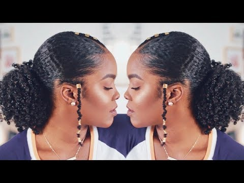 Slick Low Puff Hairstyle | Natural Hair