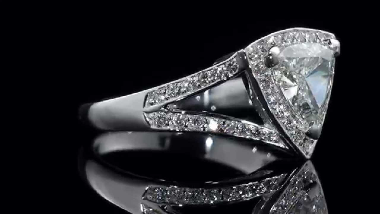 trillion mark broumand cut diamond rings watch engagement ring youtube