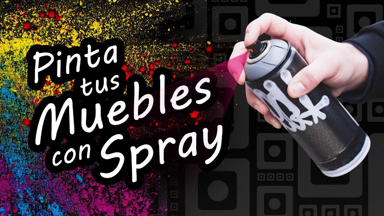 Cómo pintar muebles de MDF con pintura en Spray - Pintar con SPRAY - AEROSOL - Sellar bordes del MDF