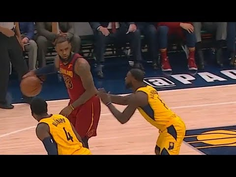 LeBron James Schooling Lance Stephenson and The Pacers with Spin Moves!