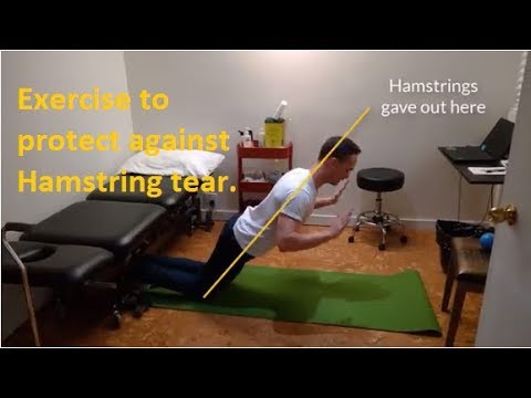 Hamstring strain Exercise to prevent.