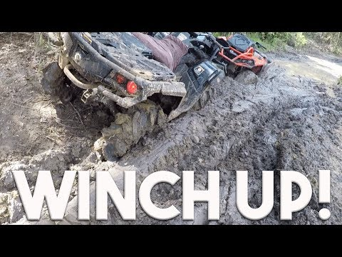 ULTIMATE ATV ADVENTURE PARK (CANAM WORST STUCKS, WINCH IN ACTION)
