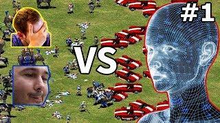 TheViper & DauT vs 4 Barbarian AI | #1