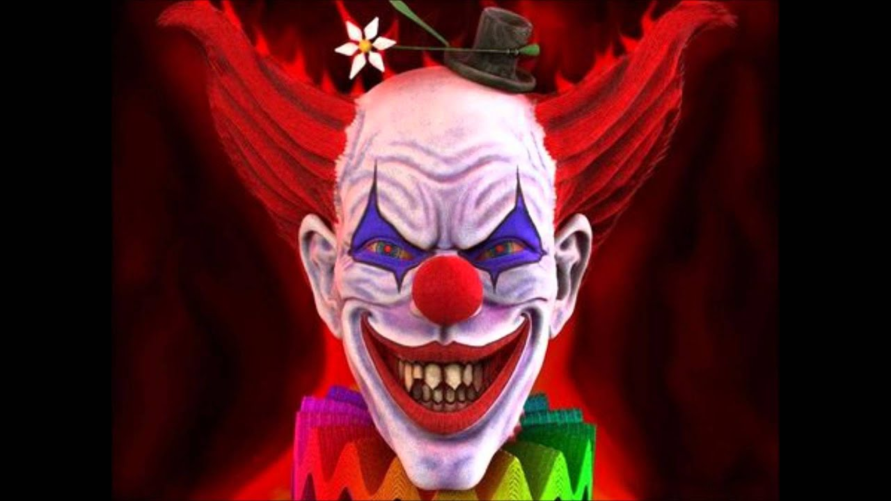 Midget clown in house