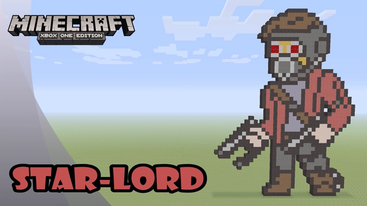 Minecraft Pixel Art Tutorial And Showcase Star Lord Guardians Of The Galaxy Vol 2