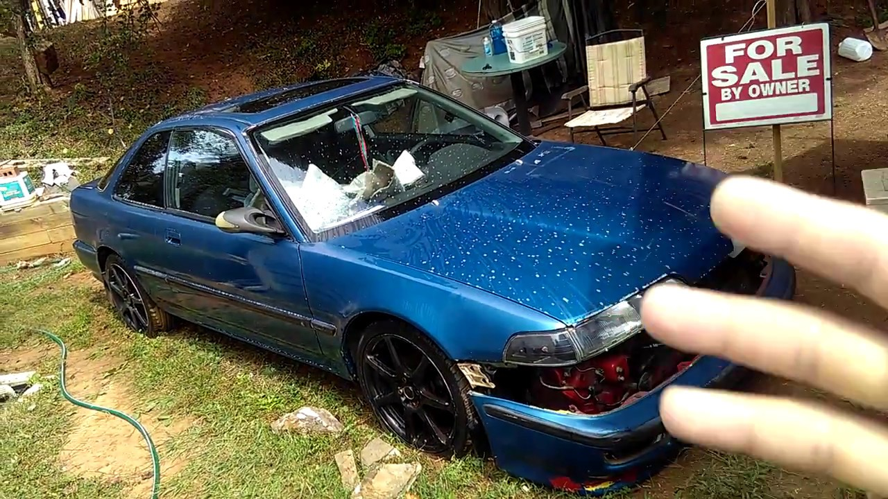 92 Acura Integra LS 5spd Classic Car For Sale Before Clean Wash Part 11