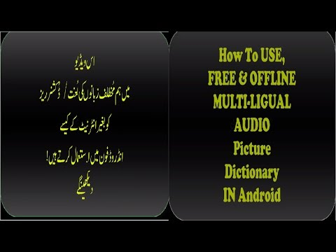 FREE , OFFLINE MULTILINGUAL Audio Dictionary For Android