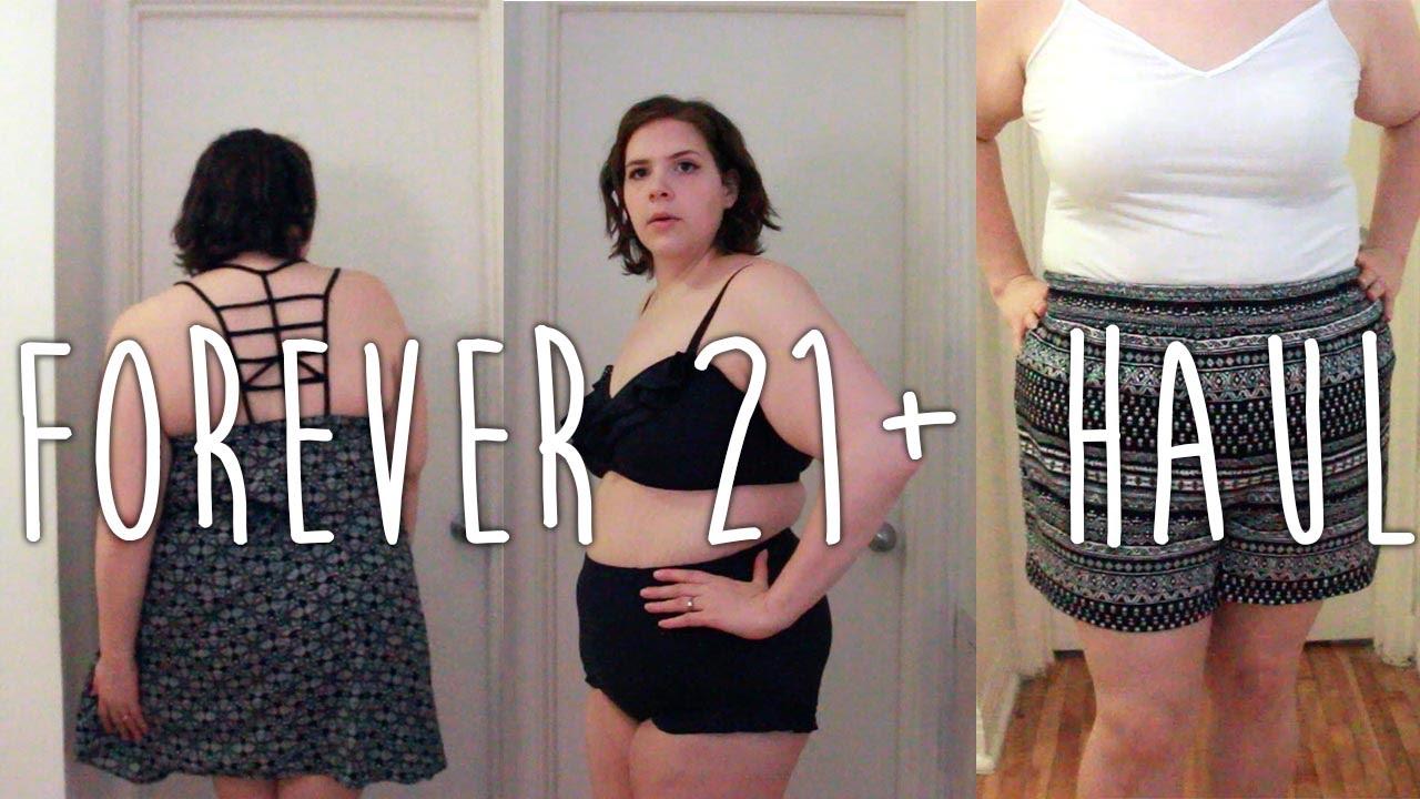8d6f56c26c206 PLUS SIZE TRY-ON Forever 21+ haul (swimwear