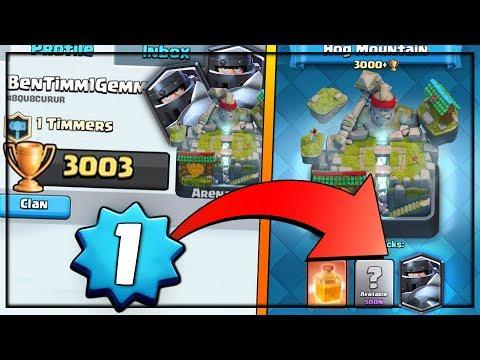LEVEL 1 CAN UNLOCK MEGA KNIGHT?!   Clash Royale   LEVEL 1 w/ 3000 Trophies!