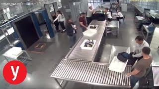 עמוס דב סילבר נמלט מהשוטרים בשדה התעופה בקייב