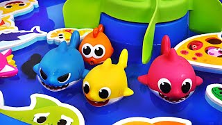 Pinkfong Baby Shark family Bath water gun Play set! Let's play in the water with Dory - PinkyPopTOY