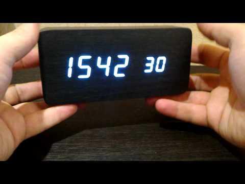 AJ6035 LED Wooden Clock