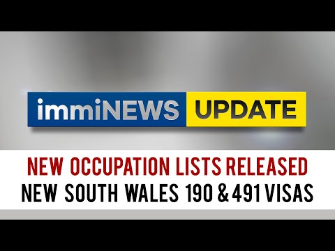 NEW OCCUPATION LISTS OUT for New South Wales 190 & 491 Visas!