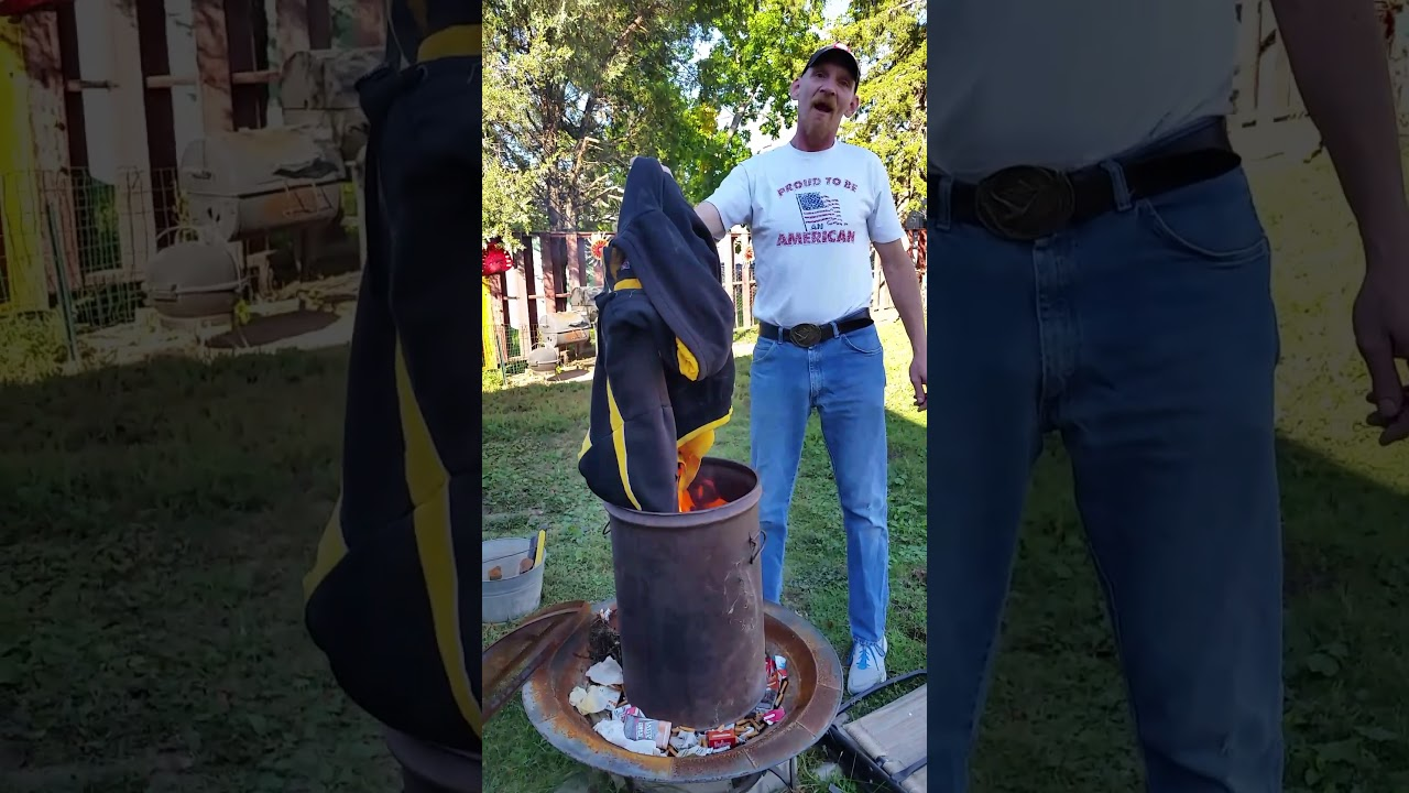 469588713ac Burning NFL Steelers stuff - YouTube