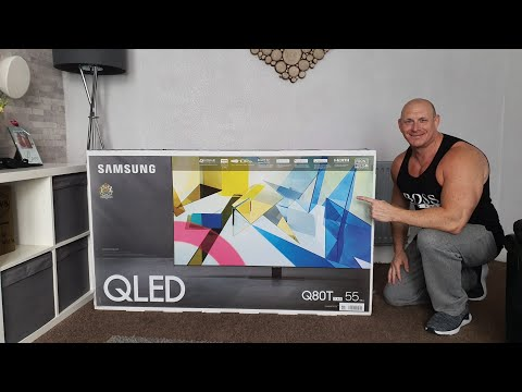 2020 Samsung Q80T (QLED TV) Unboxing,wall Mounting & Demo With 4K HDR,Gaming & Speakers