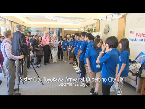 Cupertino Sister City - Toyokawa Student Arrival, 9/22/2016
