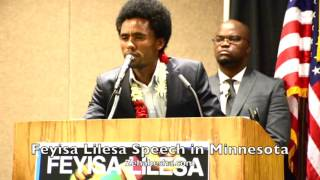 Feyisa Lilesa Speech in Minnesota - FULL SPEECH