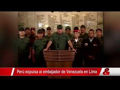 Perú expulsa a embajador de Venezuela