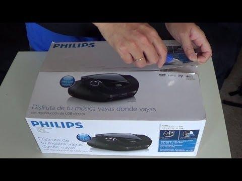 Philips CD Soundmachine AZ1837 Unboxing