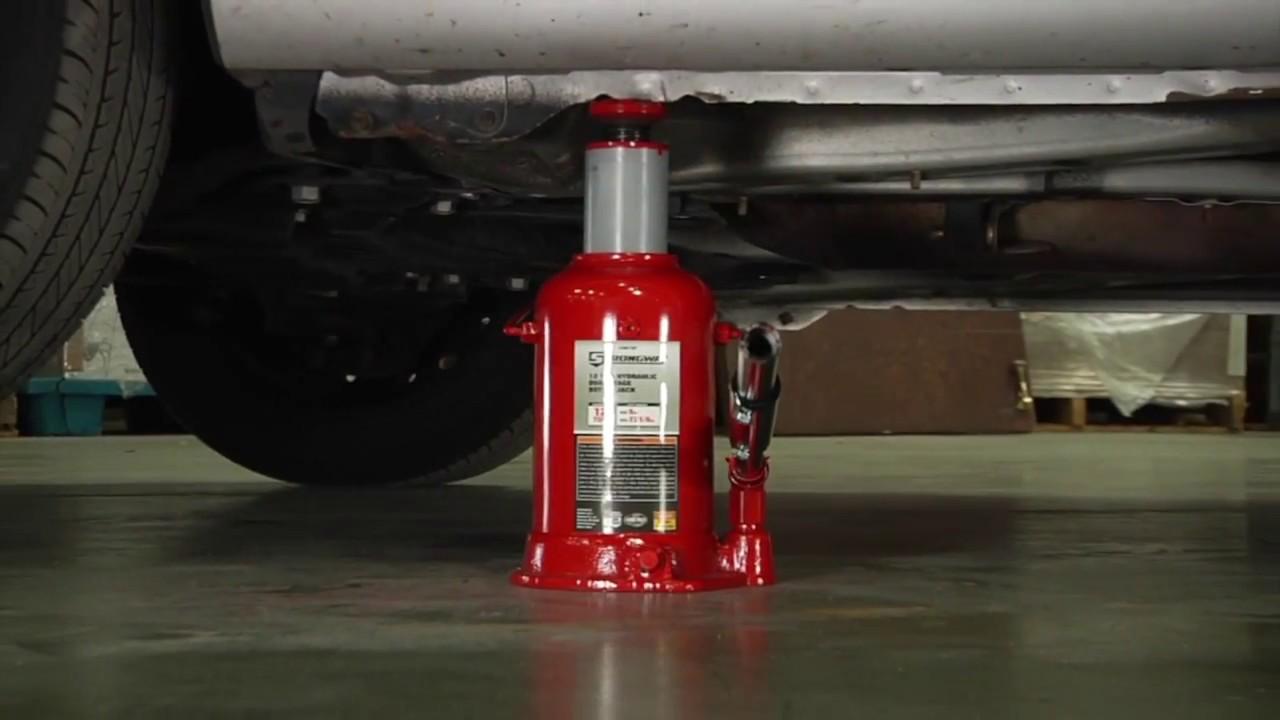 Strongway Hydraulic High Lift Double Ram Bottle Jack 2
