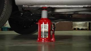 Strongway Hydraulic High Lift Double Ram Bottle Jack - 2-Ton Capacity, 5 15/16in.14 1/2in. Lift Rang