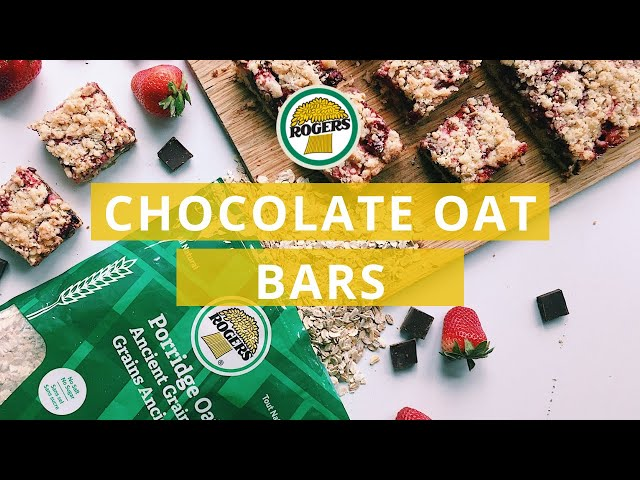 Rogers Foods - Chocolate Strawberry Oatmeal Bars Recipe Video