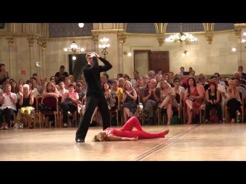 Latin Show Dance 2015 WDSF Final Selivanova - Kagan Couple 6 Vienna Dance Concourse
