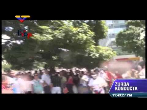 Agresión a periodistas de TVSP mientras cubrían marcha opositora