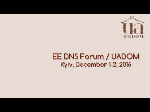 EE DNS Forum / UADOM. 1 December 2016