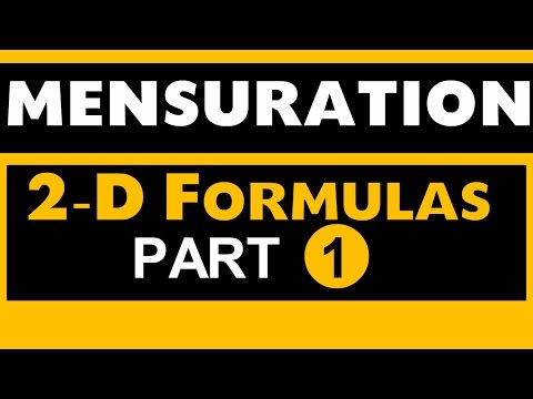 Mensuration 2D part 1for SSC , Bank PO , SBI , NDA , CDS , Govt exams