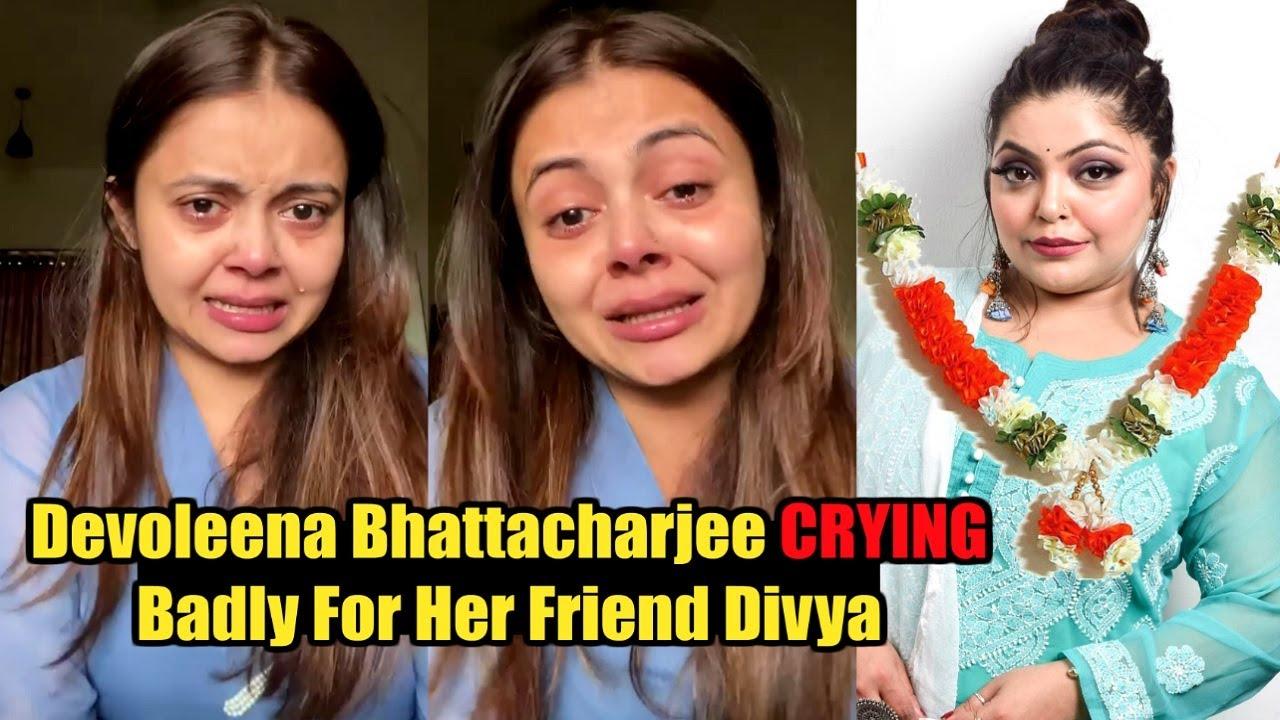 Devoleena Bhattacharjee CRYING Very Badly For Divya Bhatnagar Passing Away  | YRKKH Actress - YouTube