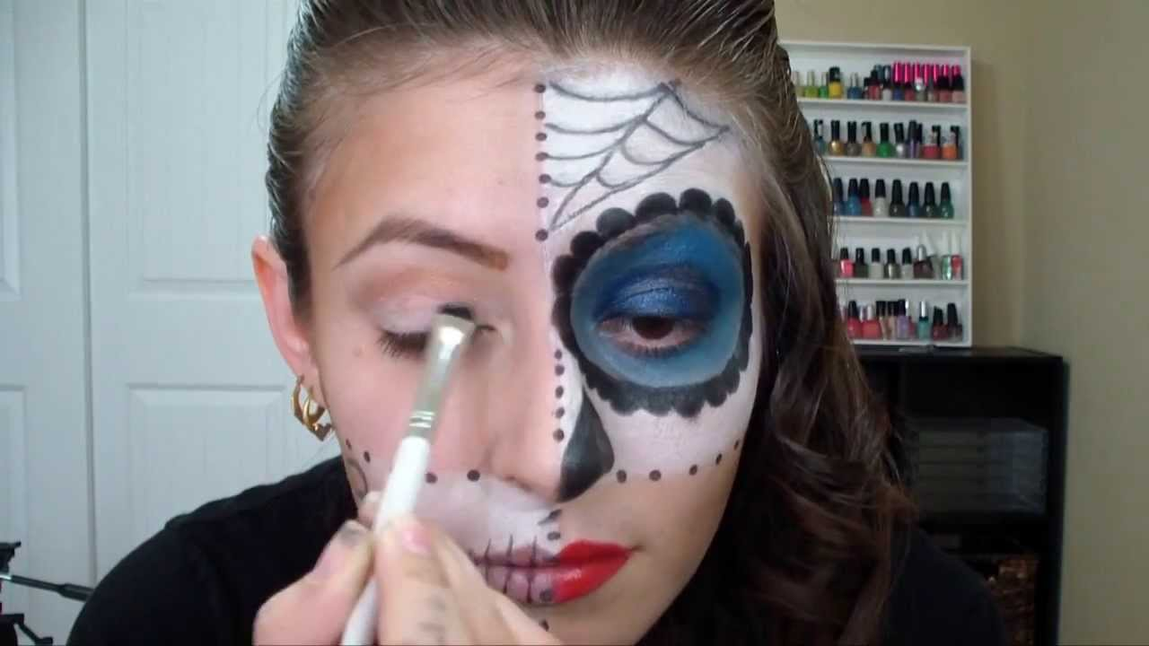 Mitad Calavera Para Halloween Youtube