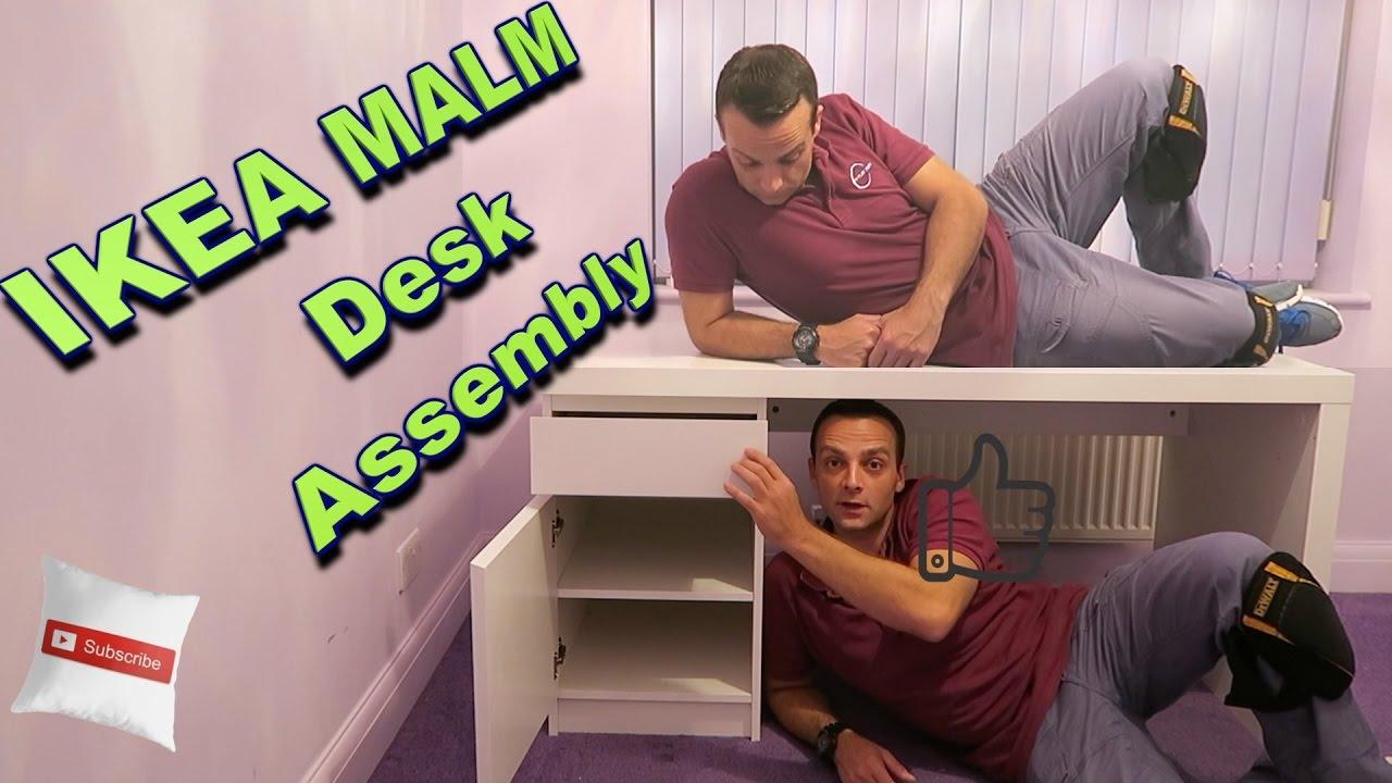 Ikea malm desk assembly youtube