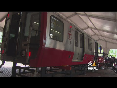 MBTA s New Red Line Model Car On Display At Boston City Hall