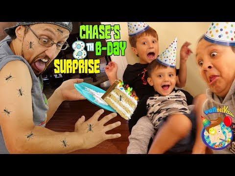 CHASE Turns 8!  HAPPY BIRTHDAY ANTS (FV Family Vlog)
