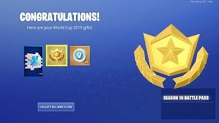Comment redeem GRATUIT SEASON 10 BATTLE PASS à Fortnite! (3 articles gratuits de la Coupe du monde)