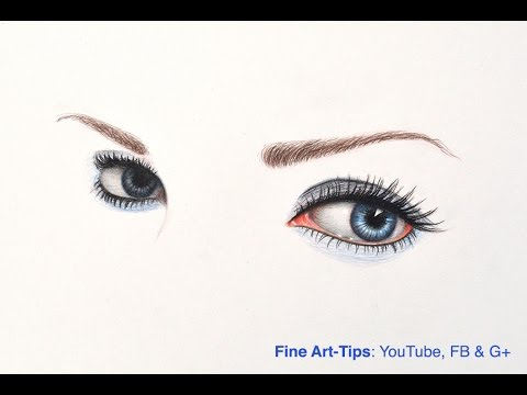 How to Draw Megan Fox's Eyes - Minimalistic Portrait