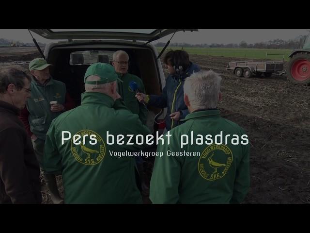 Pers bezoekt nieuw plasdras Geesteren