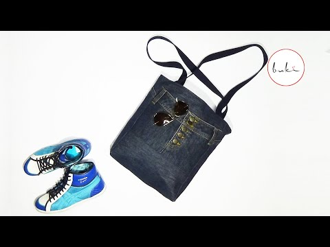 Buki | Jeans Bag Making | DIY Jeans Tutorial Old Jeans Recycle Idea