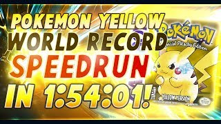 Pokemon Yellow World Record Speedrun in 1:54:01! [Current World Record]
