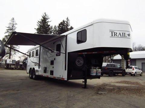 HaylettRVcom Trail Hand 7308 Living Quarter Gooseneck Horse