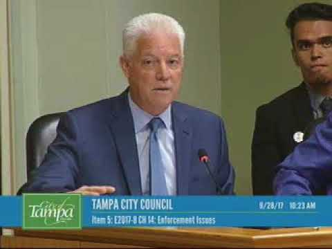 Tampa City Council workshop 9/28/2017