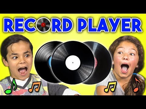 KIDS REACT TO RECORD PLAYERS/VINYL