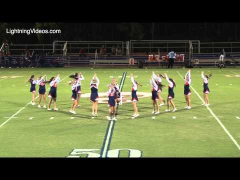 TBS Cheerleading Perform at the 8/30/13 Football Game Halftime Show