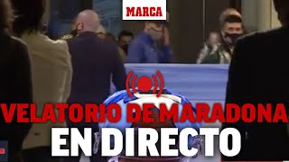 Muere Maradona: el velatorio de Diego Armando Maradona, en directo