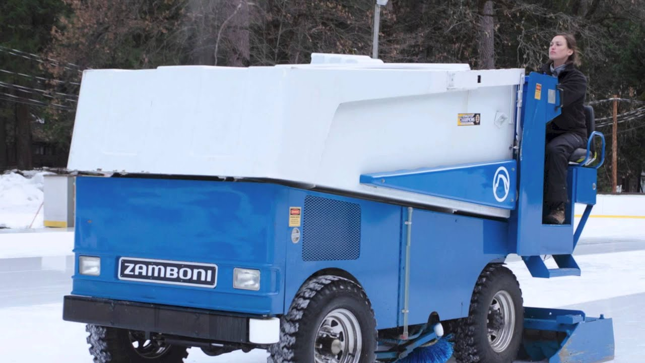 zamboni at the curry village ice rink in yosemite national park